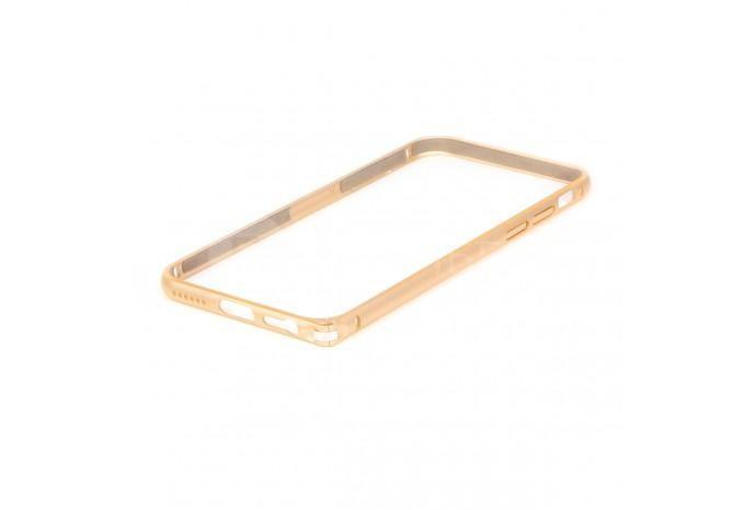 Алюминиевый противоударный бампер для iPhone 6 золотой