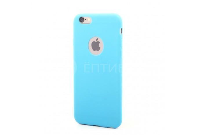 Силиконовый защитный чехол для iPhone 6 голубой