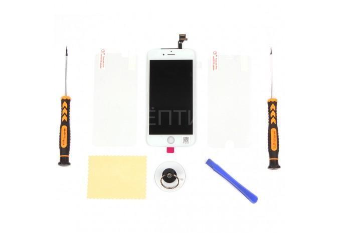 Набор для замены дисплея в iPhone 6 белый c инструментом