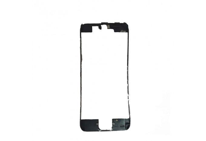 Пластиковая рамка дисплея черная с клеем для iPhone 6 Plus