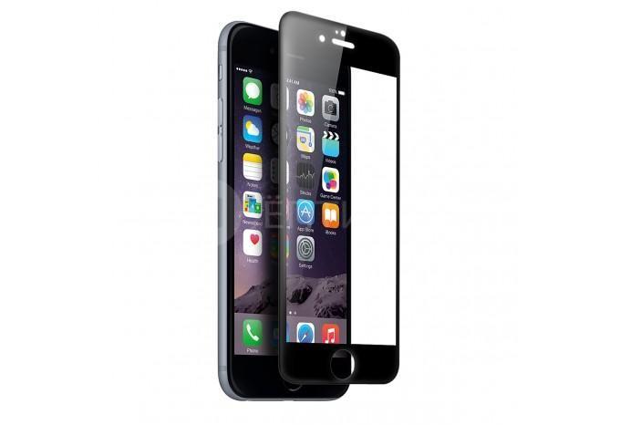 Трехмерная 3D защитная силиконовая пленка для iPhone 6 / 6S черная