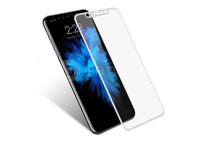 Защитное противоударное 6D стекло для iPhone X/XS/11 Pro белое