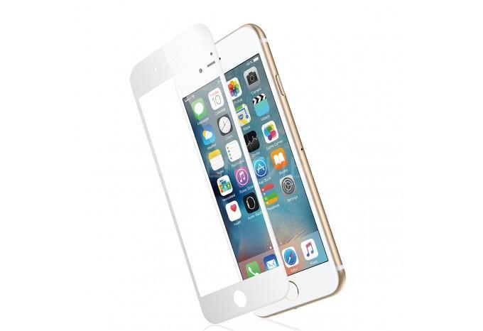 Трехмерная 3D защитная силиконовая пленка для iPhone 7 / 8 белая