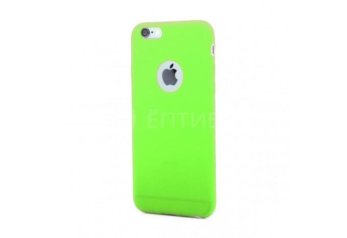 Силиконовый защитный чехол для iPhone 6 / 6S зеленый