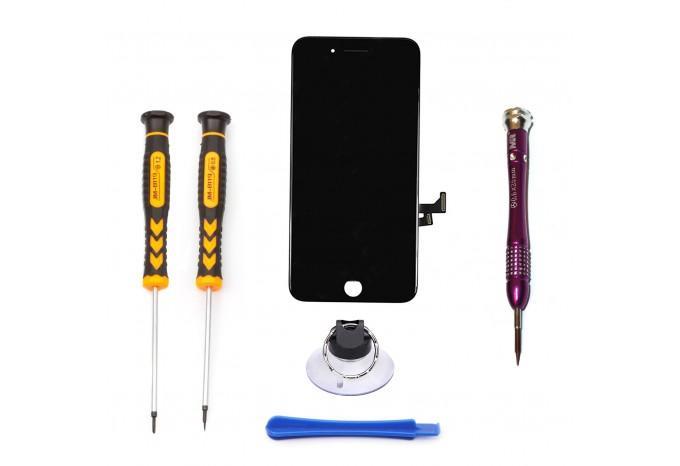 Набор для замены дисплея в iPhone 7 Plus черный c инструментом