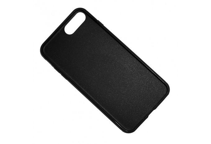 Ударопрочный силиконовый черный чехол для iPhone 7 Plus