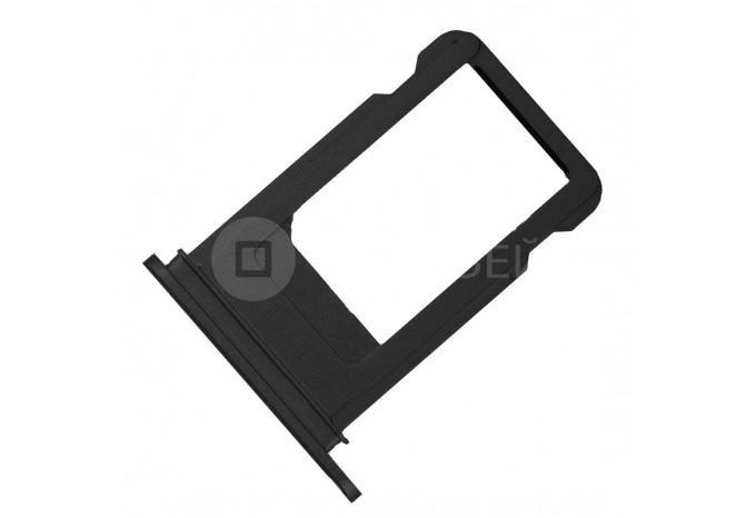 Сим-лоток (Nano Sim Card Tray) для Nano сим карты для iPhone 7 матово черный