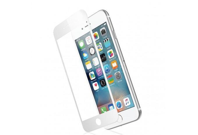 Трехмерное 3D защитное стекло для iPhone 7 Plus / 8 Plus белое