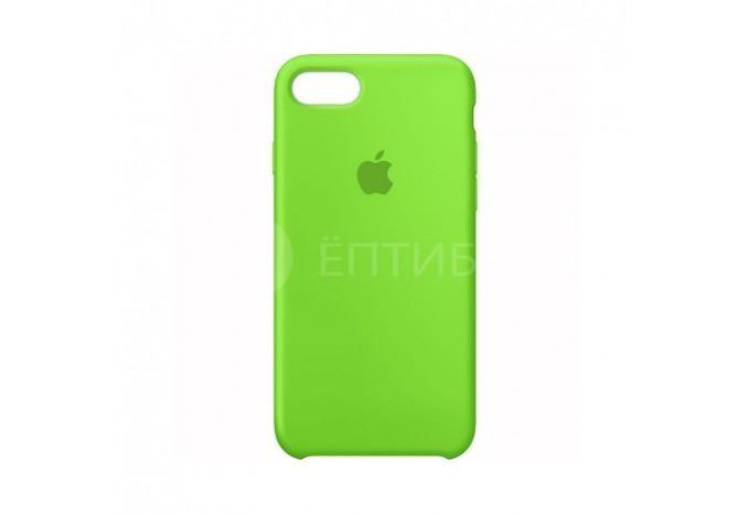 Ударопрочный силиконовый зеленый чехол для iPhone 7