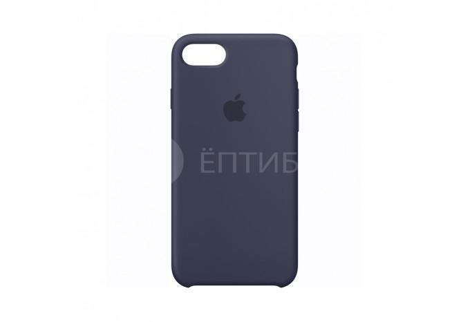 Ударопрочный силиконовый темно синий чехол для iPhone 7