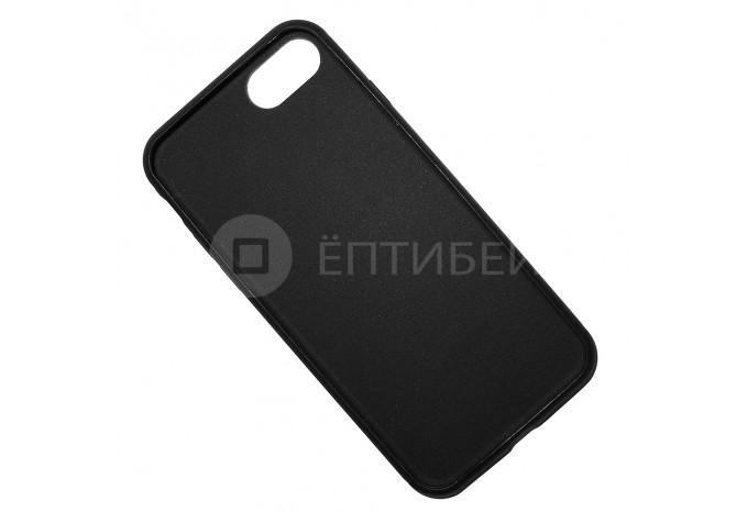 Ударопрочный силиконовый черный чехол для iPhone 7