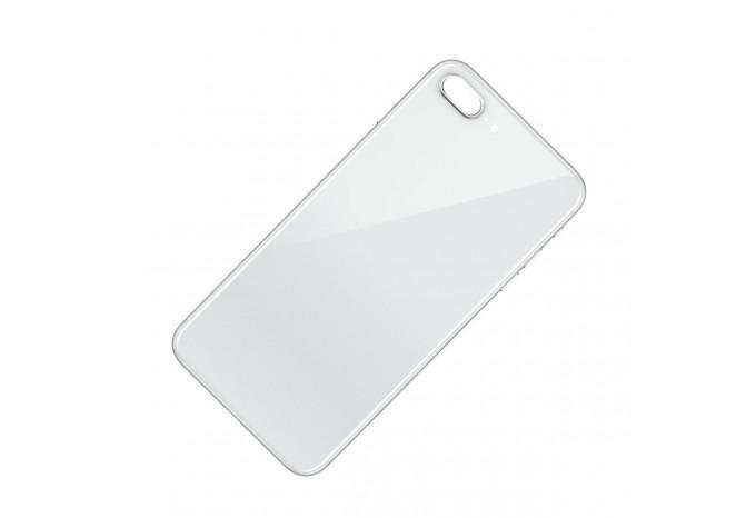 Задняя стеклянная панель для iPhone 8 Plus серебристая