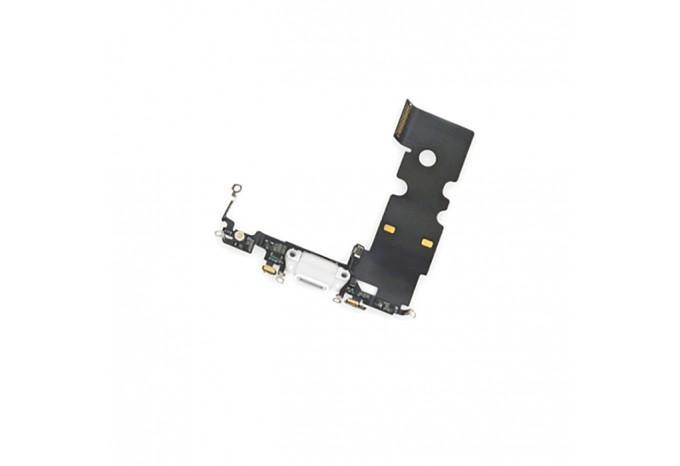 Нижний шлейф Dock коннектор с микрофоном для iPhone 8/SE 2020 белый