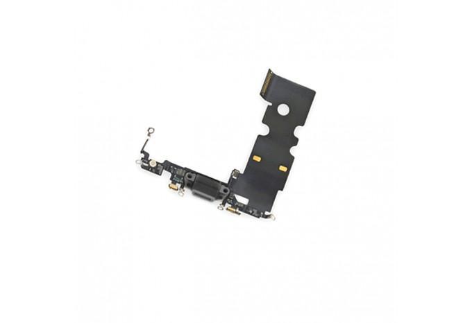 Нижний шлейф Dock коннектор с микрофоном для iPhone 8/SE 2020 черный