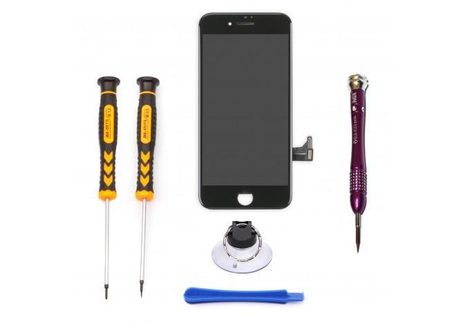 Набор для замены дисплея в iPhone 8 черный c инструментом