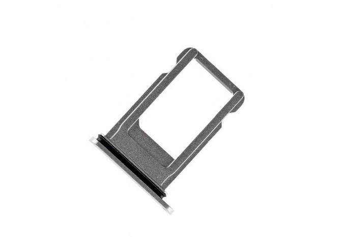 Сим-лоток (Nano Sim Card Tray) для Nano сим карты для iPhone 8 Plus серебряный