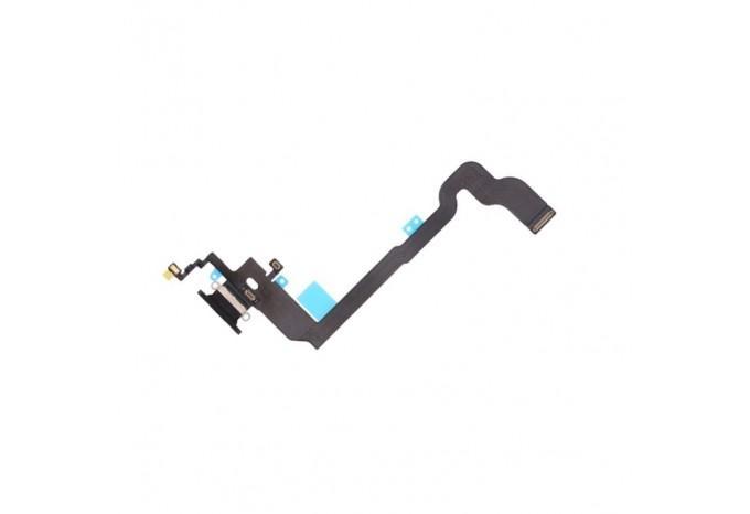Нижний шлейф Dock коннектор для iPhone X черный