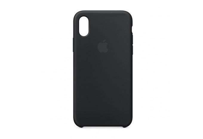 Ударопрочный силиконовый черный чехол для iPhone X