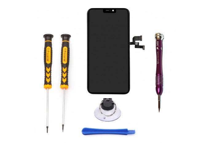 Набор для замены дисплея в iPhone X черный c инструментом