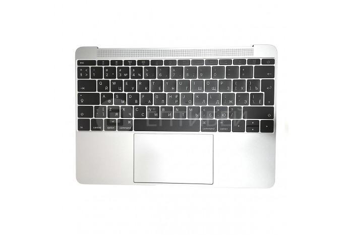 """Топкейс с клавиатурой и тачпадом для MacBook A1534 12"""" Early 2015 Space Gray Big Enter"""