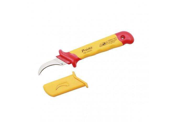 Серповидный VDE нож для зачистки кабеля Proskit, PD-V003C