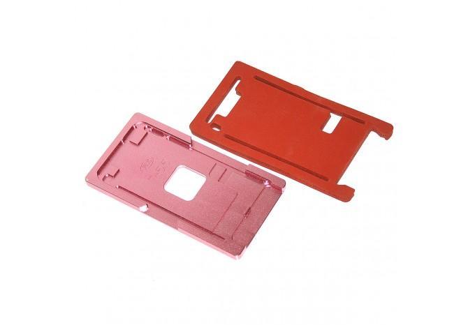 Металлическая форма для наклейки стекла на дисплей iPhone 7 Plus с подложкой для пресса