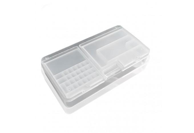 Коробка для сортировки и хранения мелких запчастей с двойной крышкой