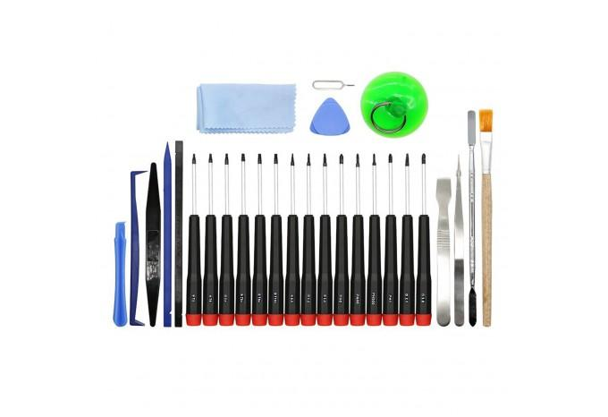 Набор сингл отверток в сумке со спуджерами и лопатками YF Tools для ремонта Apple 29 в 1