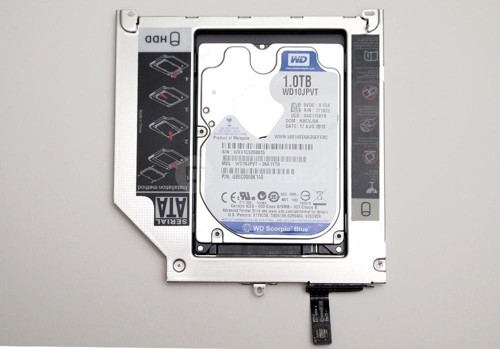 13 - Шаг 13 - установка жесткого диска в Optibay