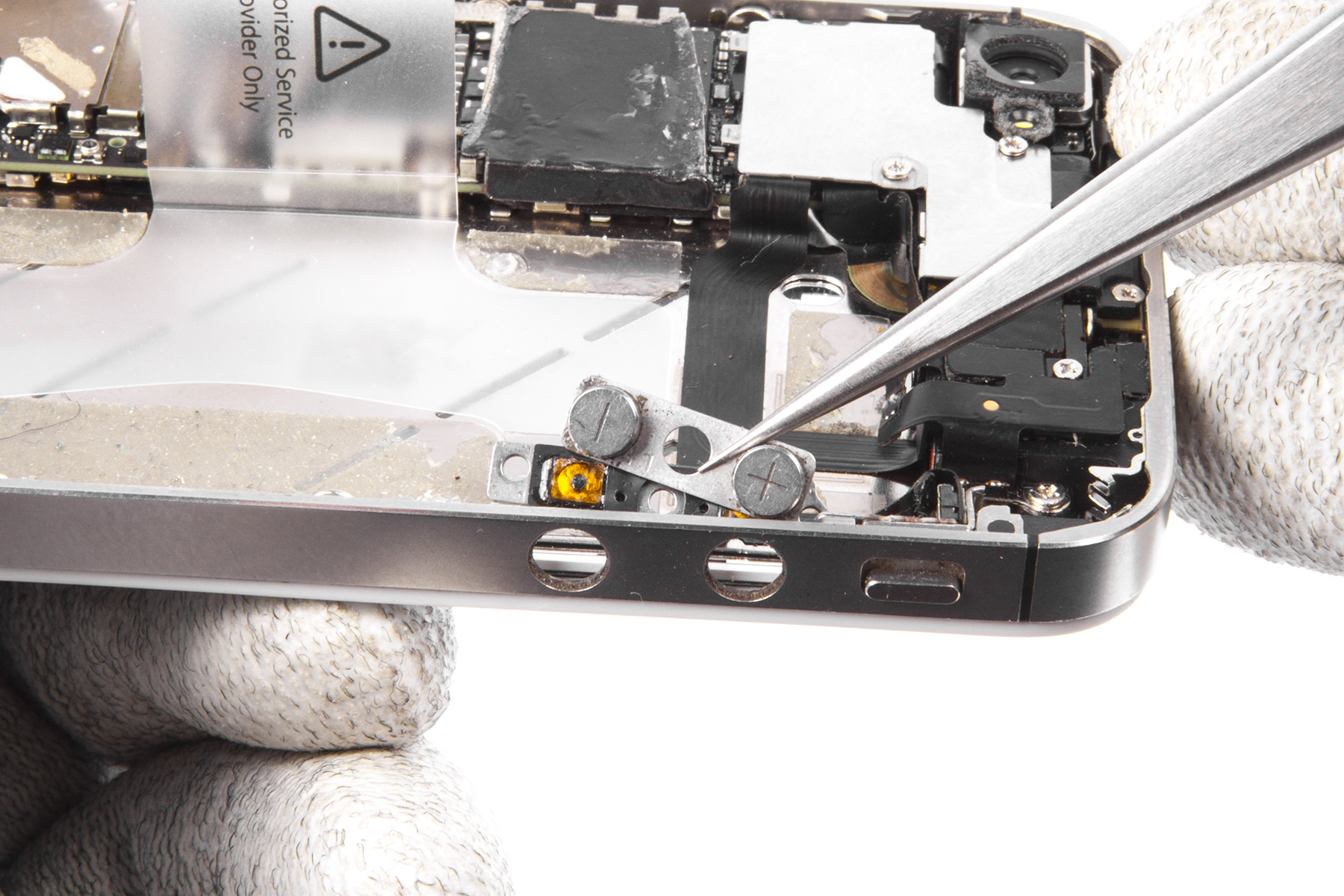 пошаговая инструкция по замене шлейфа кнопки питания айфон 5s